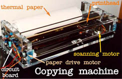 A homemade copying machine